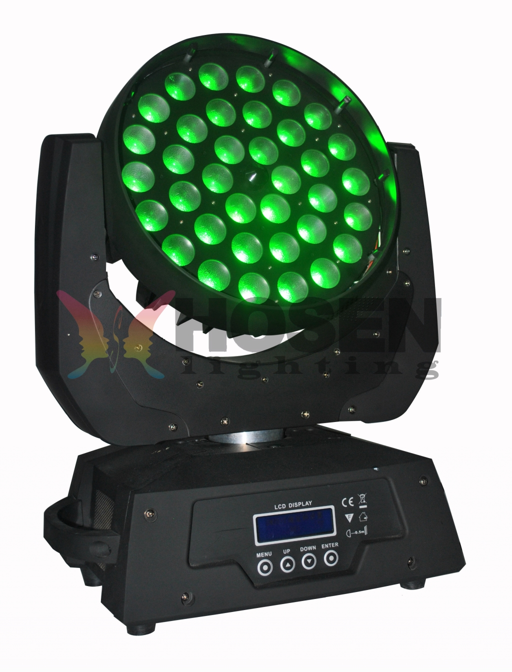 New 36*18w RGBWA+UV 6in1 zoom LED Moving Head wash HS-LMW-3618Z